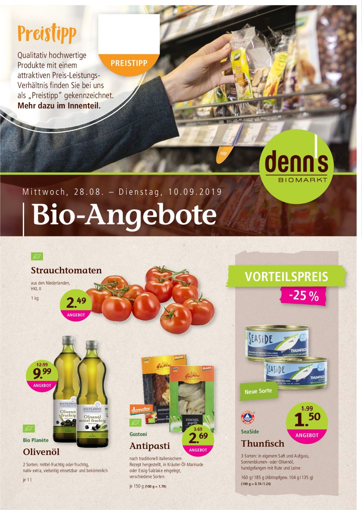 Denn's Biomarkt Prospekt - Aktuell vom 28.08-10.09.2019