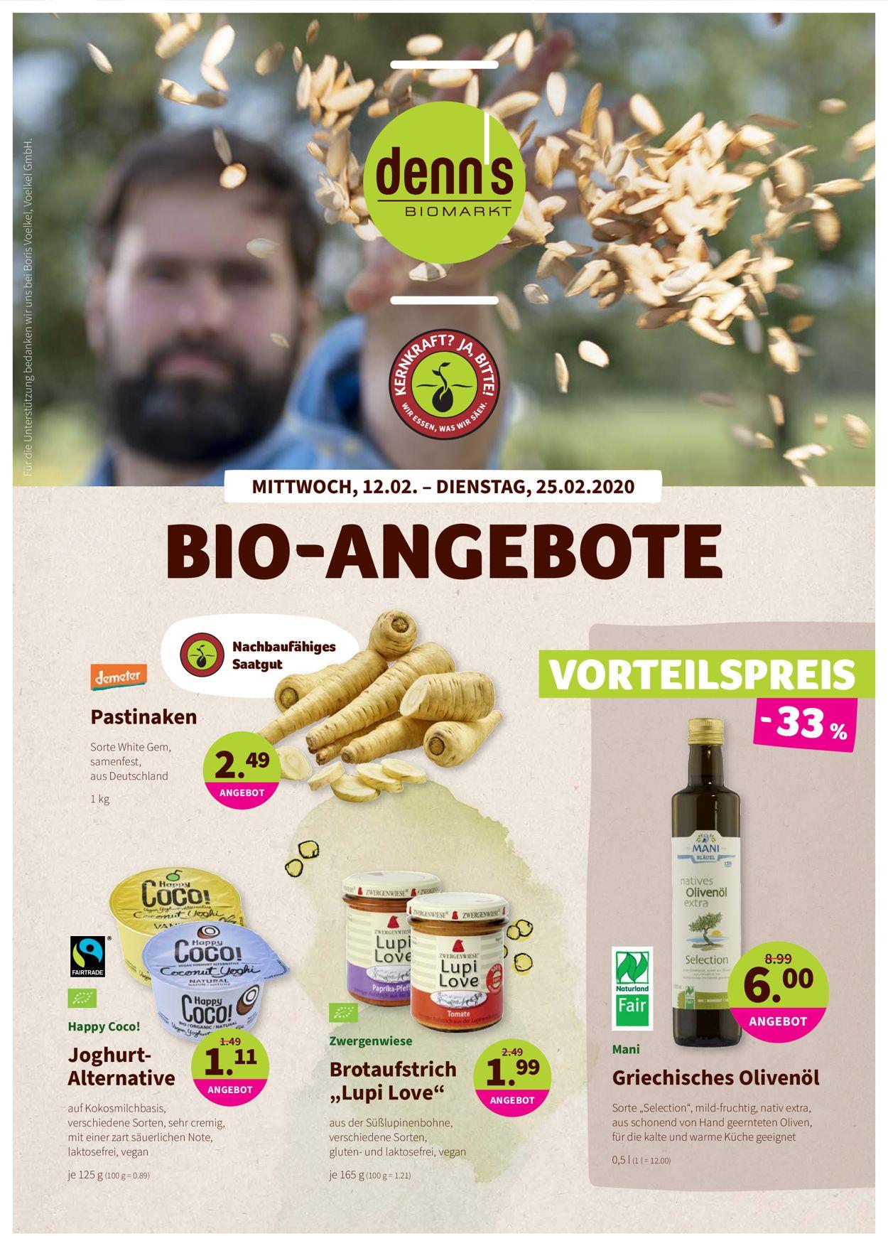 Denn's Biomarkt Prospekt - Aktuell vom 12.02-25.02.2020