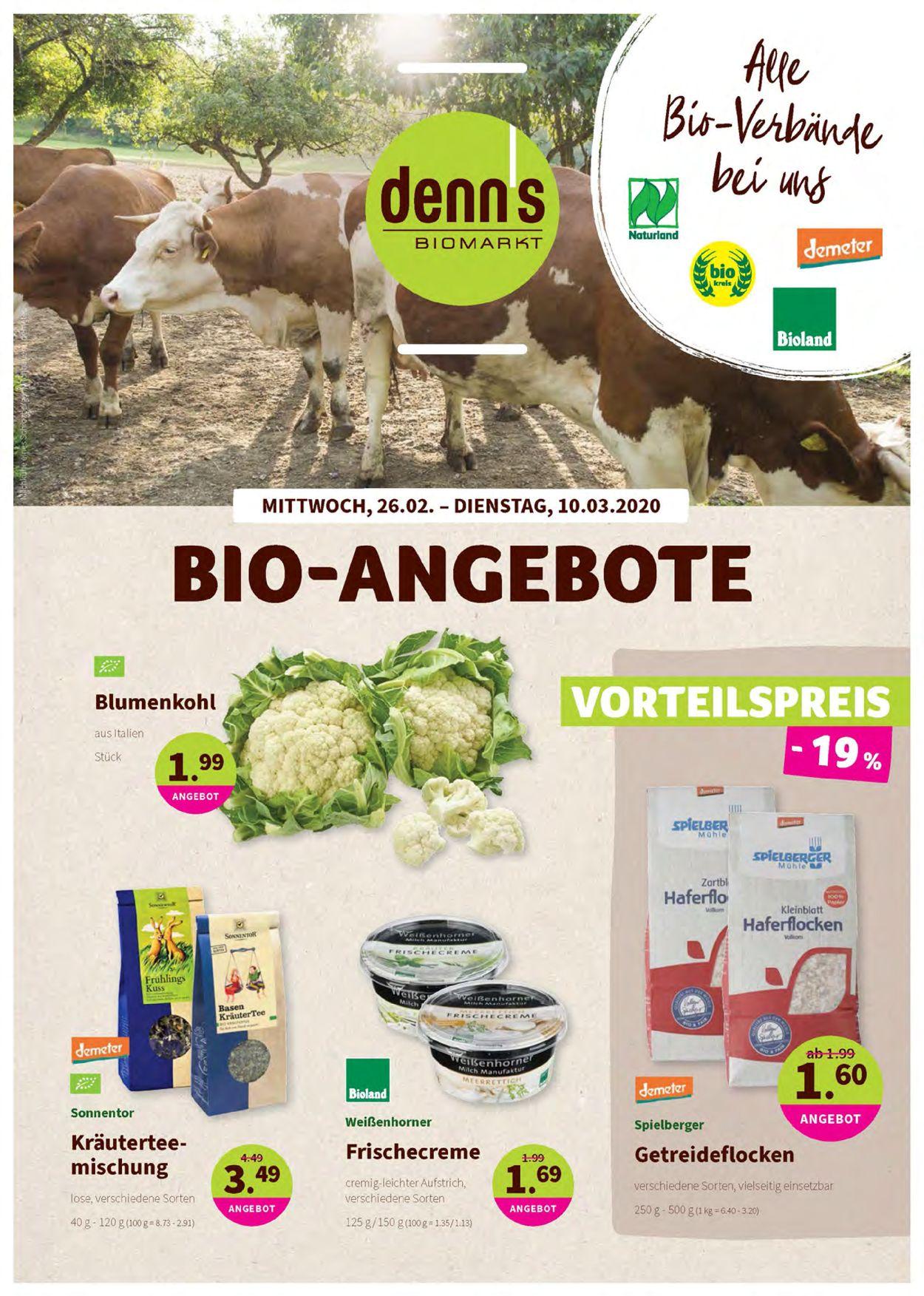 Denn's Biomarkt Prospekt - Aktuell vom 26.02-10.03.2020