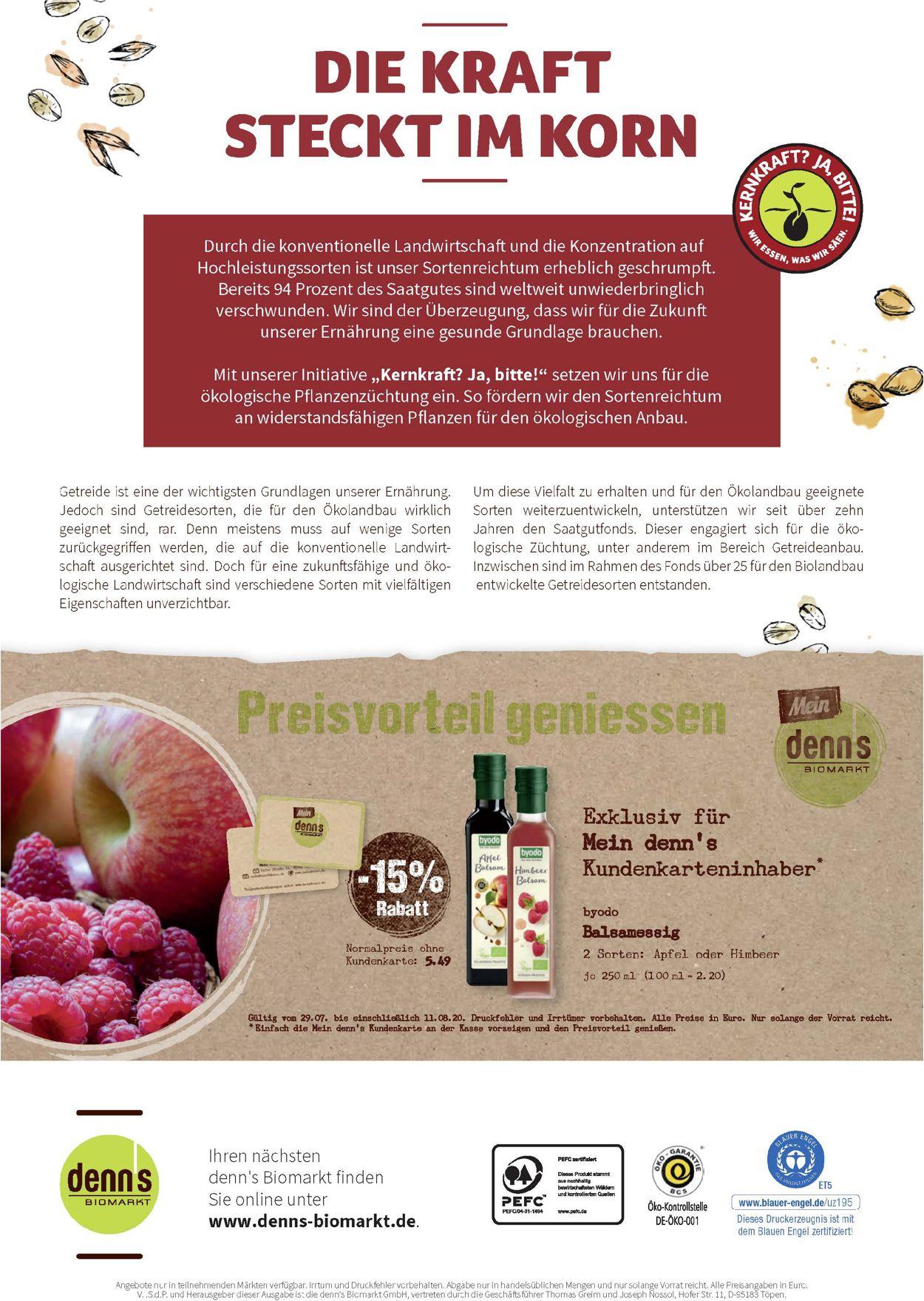 Denn's Biomarkt Prospekt - Aktuell vom 29.07-11.08.2020 (Seite 12)