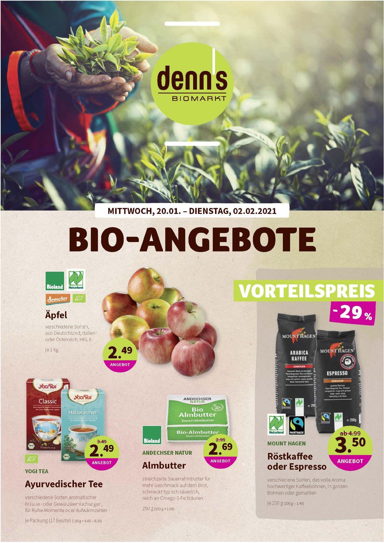 Denn's Biomarkt Prospekt - Aktuell vom 20.01-02.02.2021