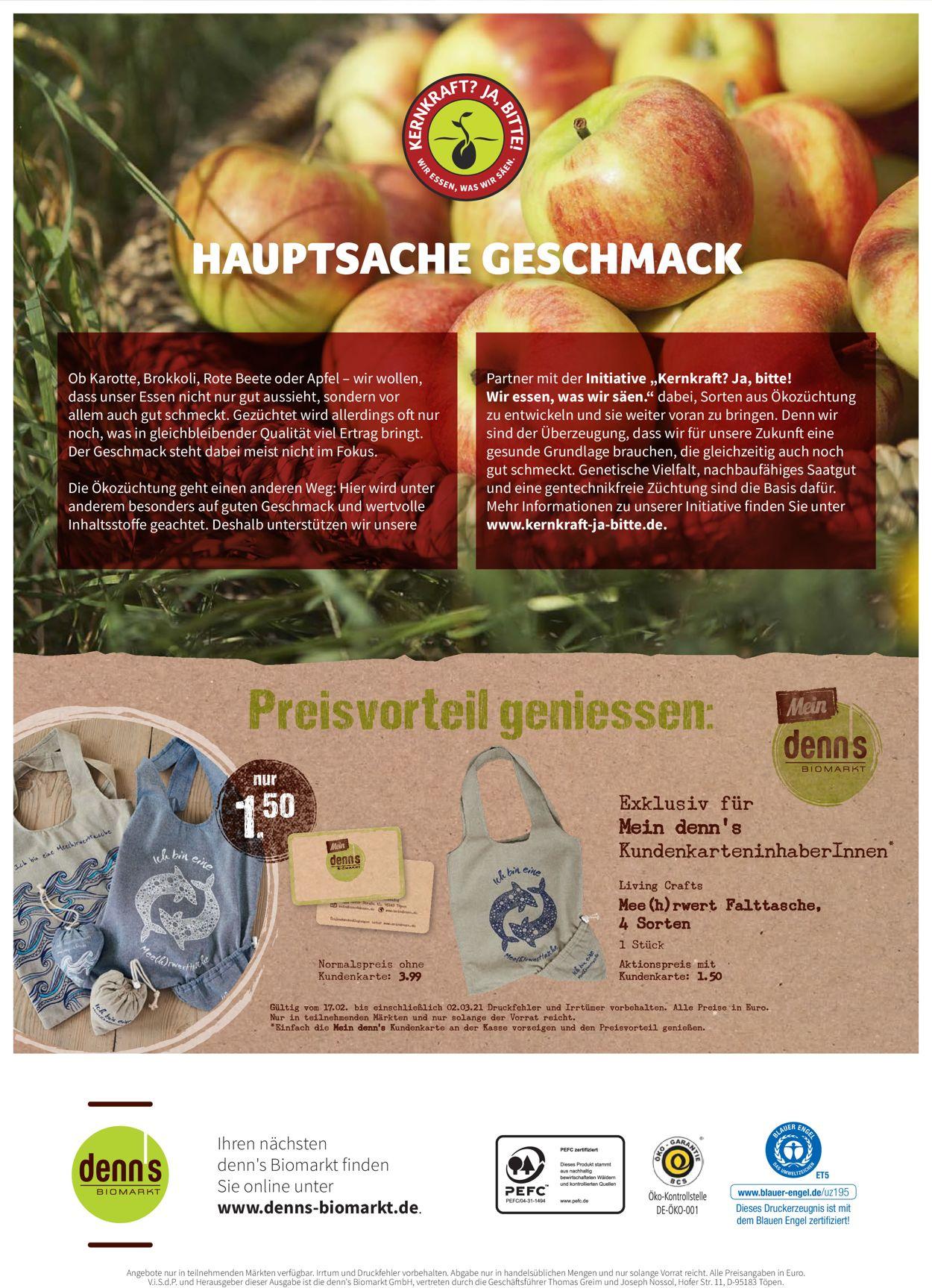Denn's Biomarkt Prospekt - Aktuell vom 17.02-02.03.2021 (Seite 12)