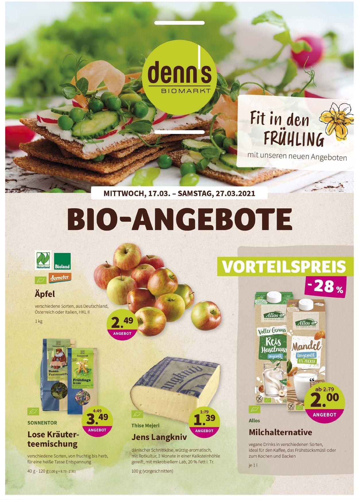 Denn's Biomarkt Prospekt - Aktuell vom 17.03-27.03.2021
