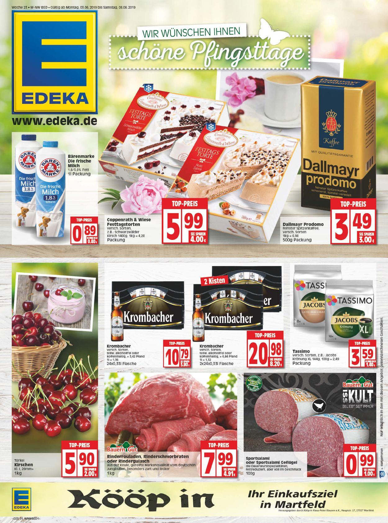 Edeka Prospekt - Aktuell vom 03.06-08.06.2019