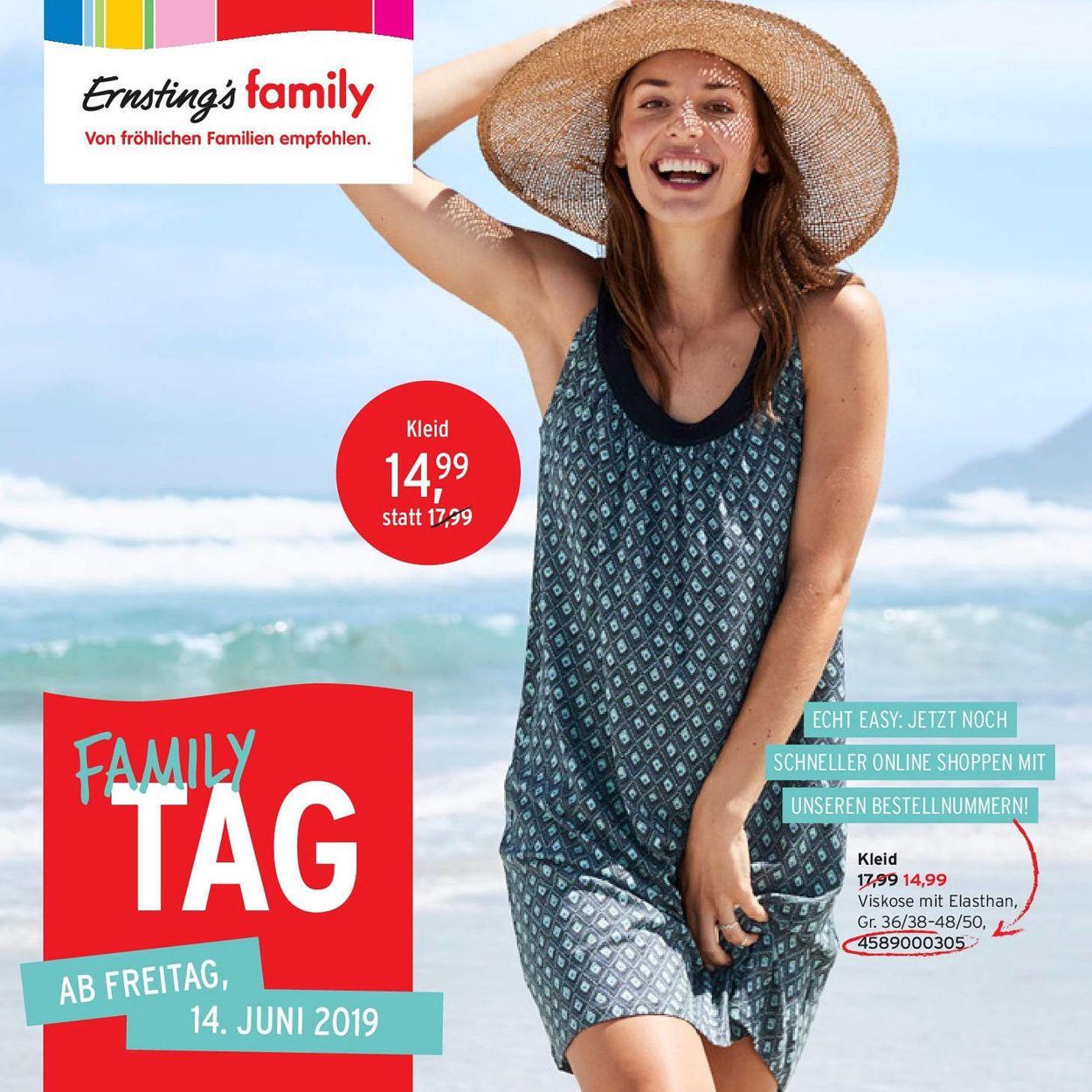 Ernstings family Prospekt - Aktuell vom 14.06-19.06.2019