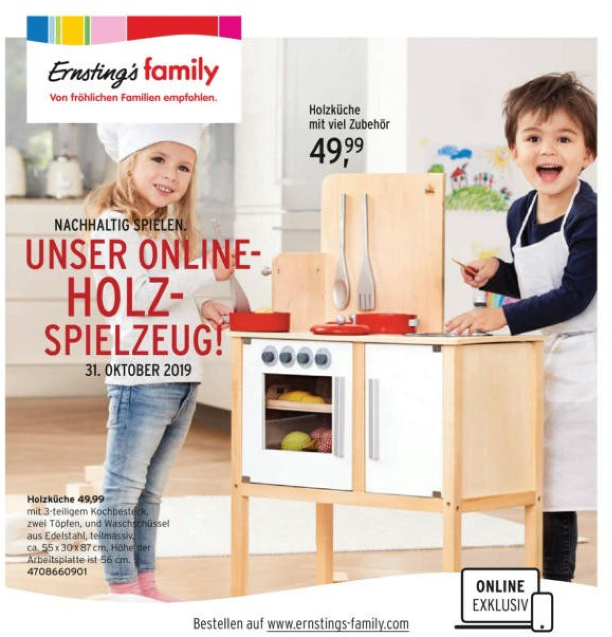 Ernstings family Prospekt - Aktuell vom 31.10-12.11.2019