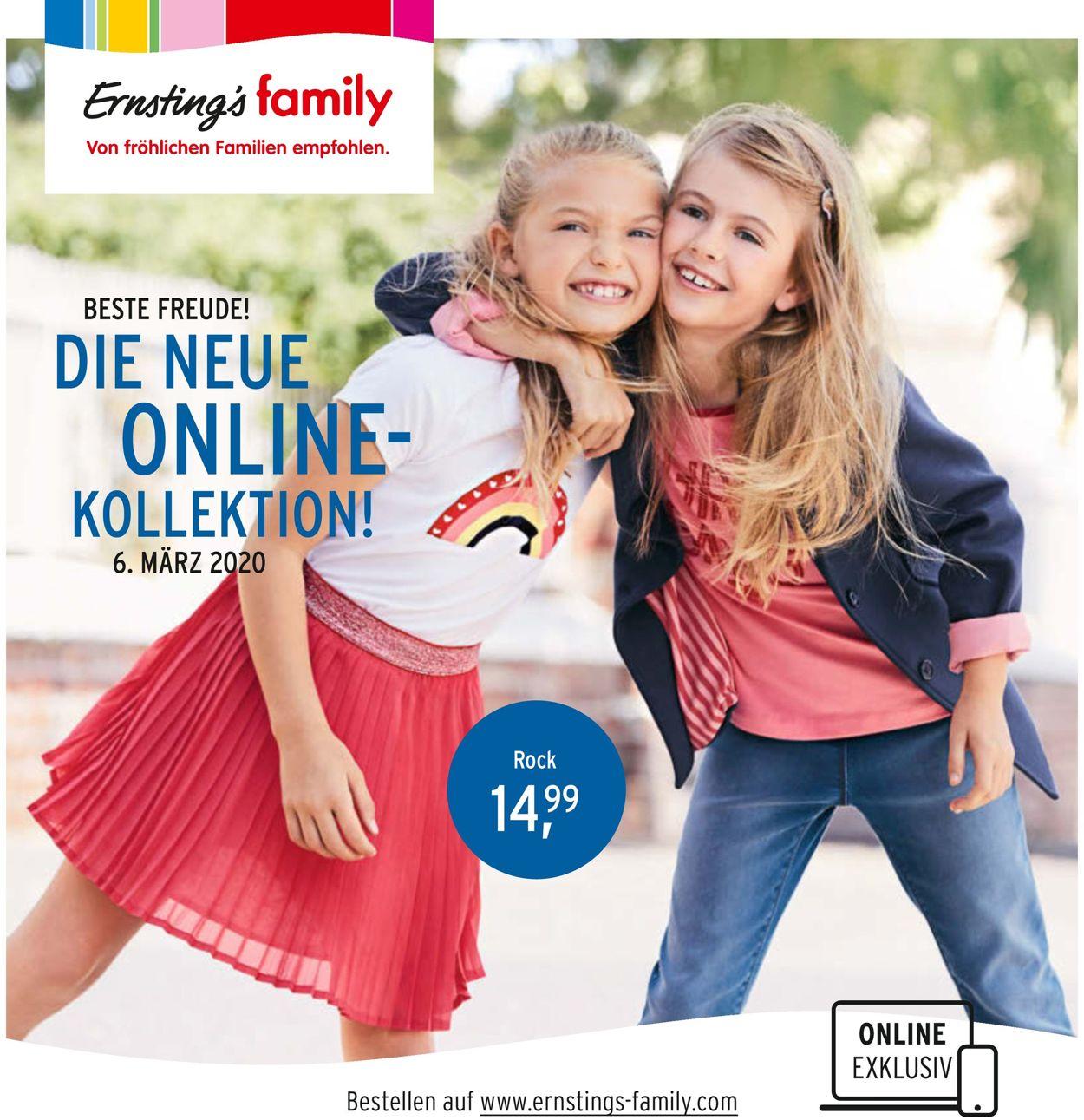 Ernstings family Prospekt - Aktuell vom 06.03-16.03.2020