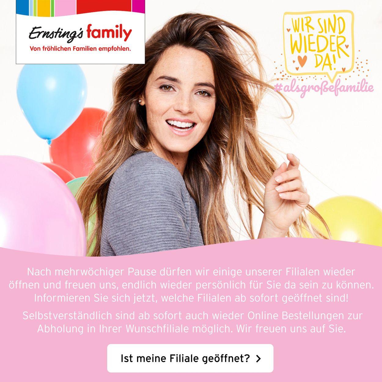 Ernstings family Prospekt - Aktuell vom 21.04-27.04.2020