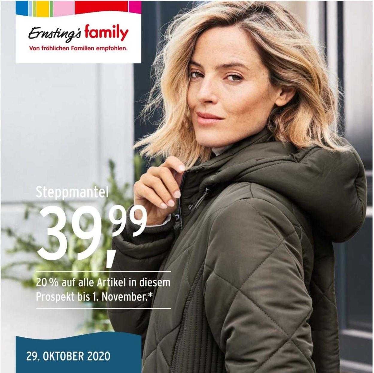 Ernstings family Prospekt - Aktuell vom 29.10-07.11.2020