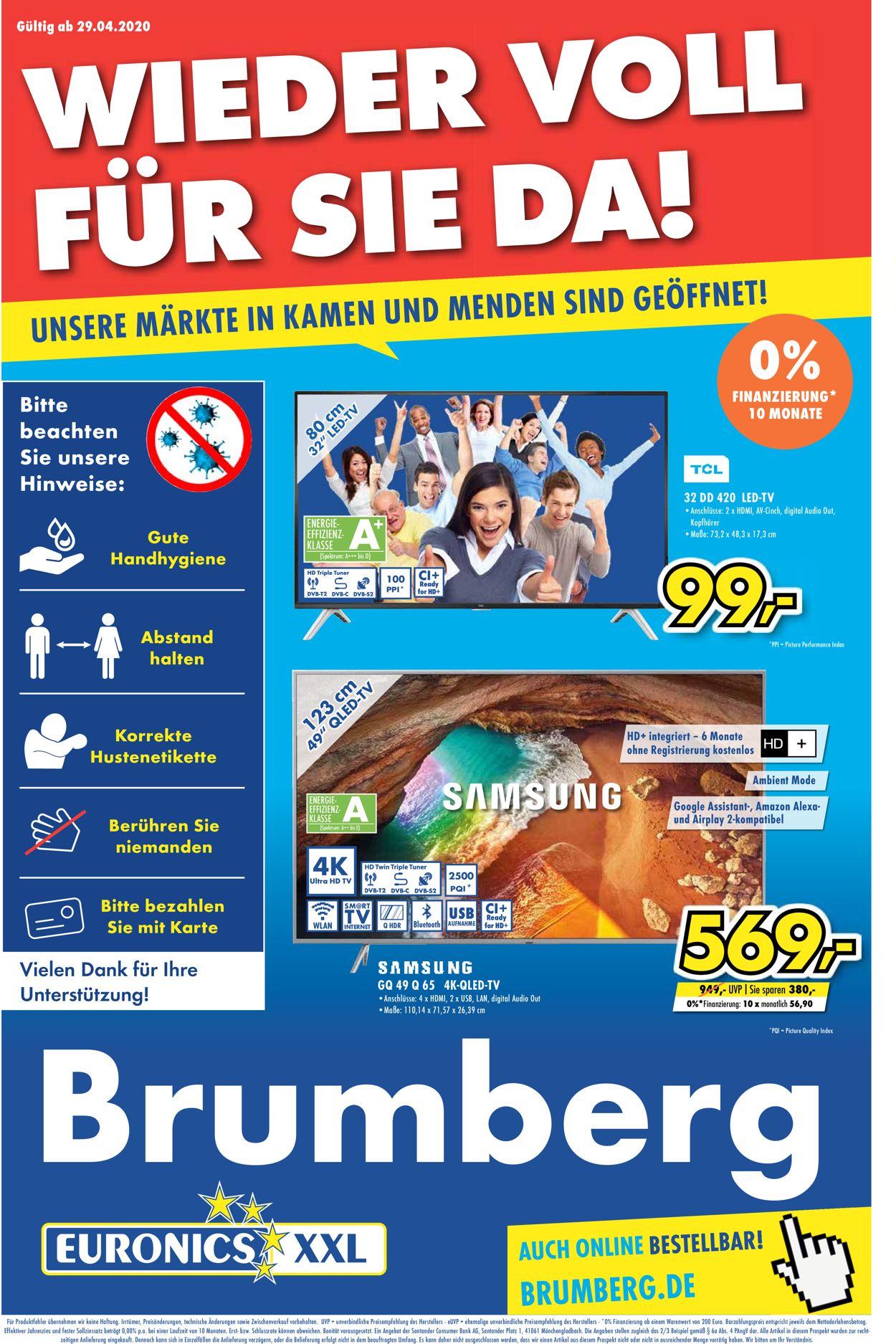 Euronics Prospekt - Aktuell vom 29.04-09.05.2020