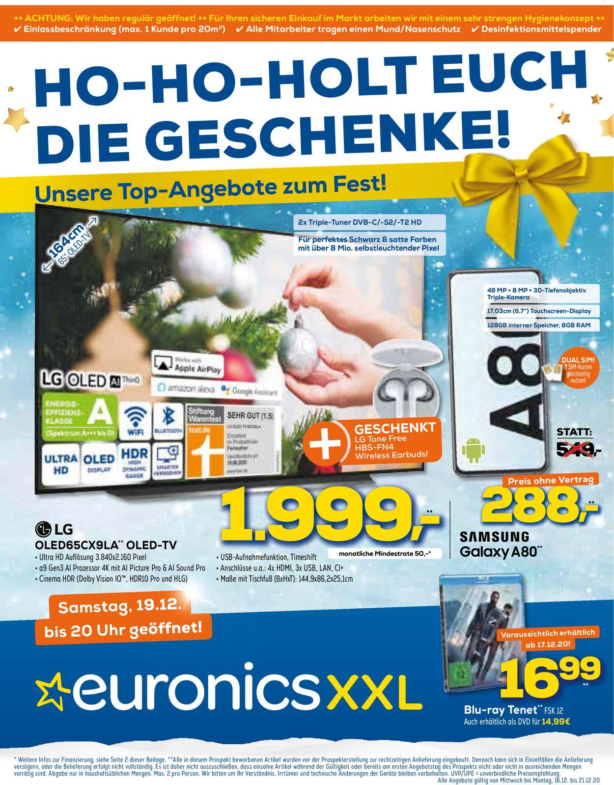 Euronics Weihnachtsprospekt 2020 Prospekt - Aktuell vom 16.12-21.12.2020