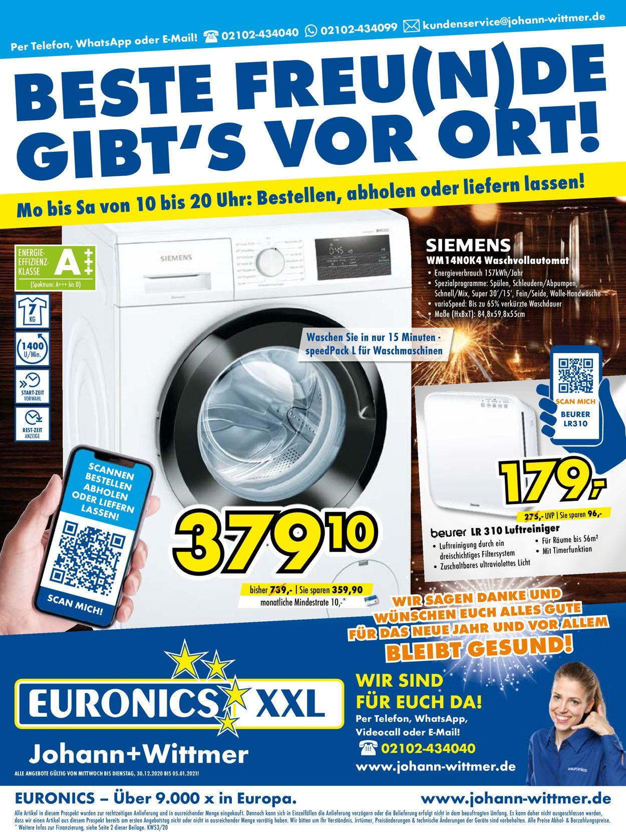 Euronics Prospekt - Aktuell vom 30.12-05.01.2021