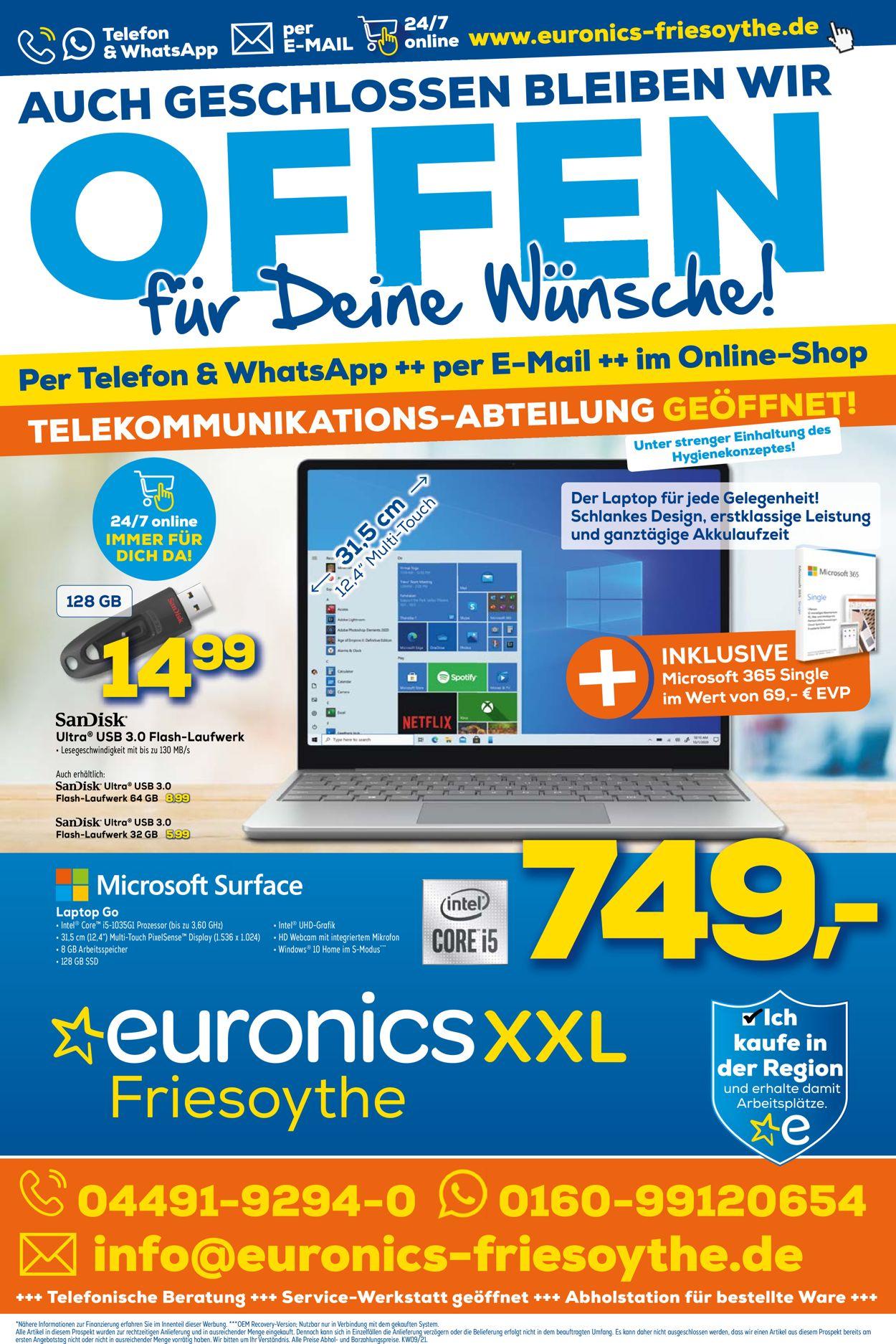 Euronics Prospekt - Aktuell vom 07.03-13.03.2021