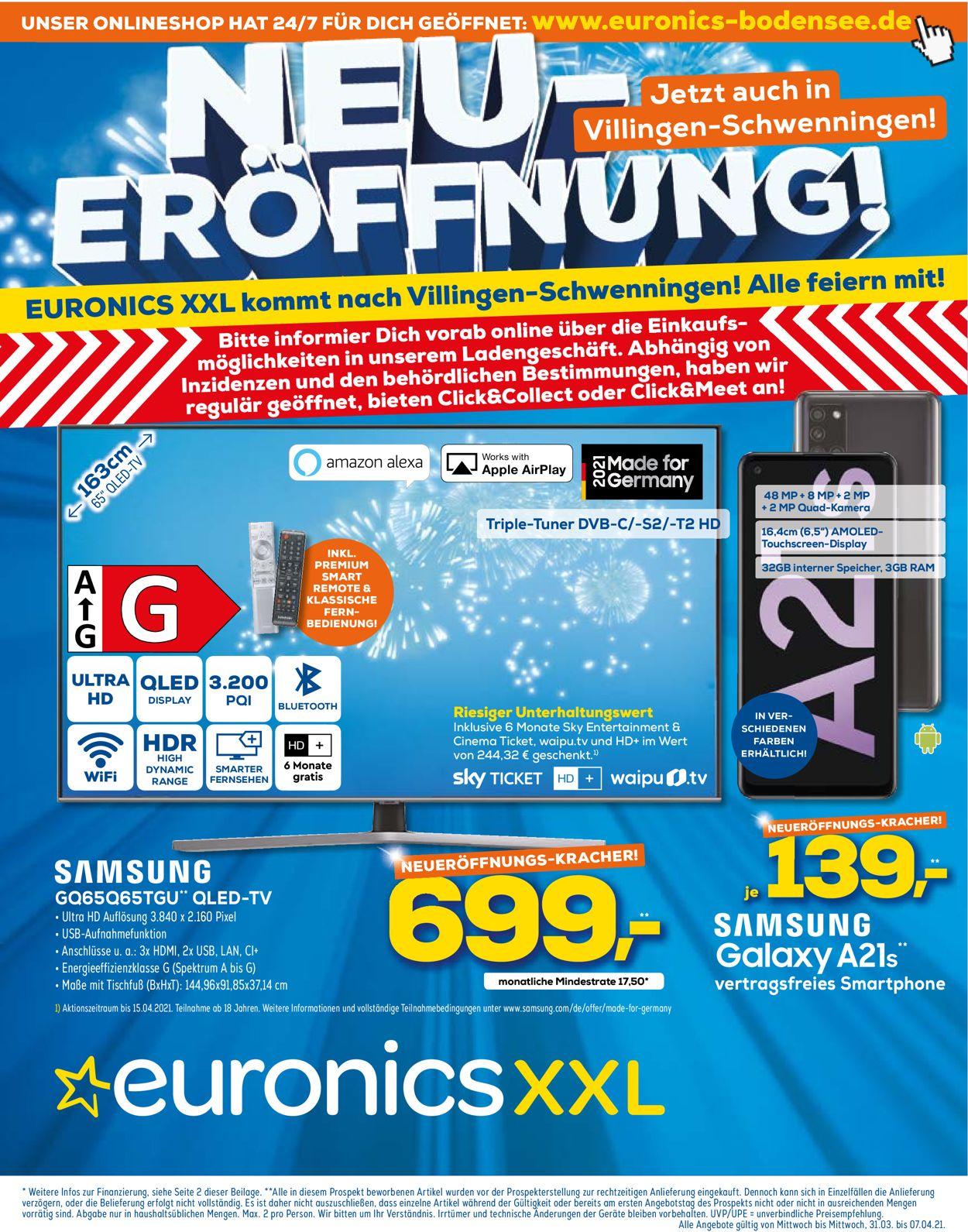 Euronics Prospekt - Aktuell vom 31.03-07.04.2021