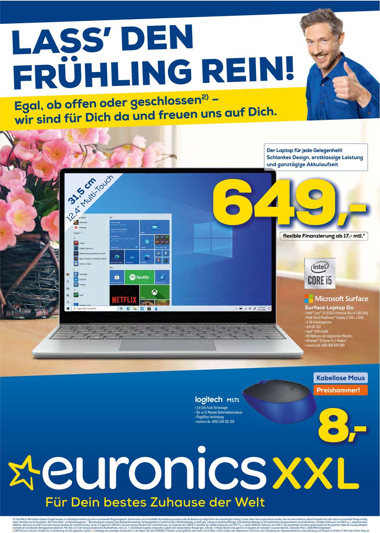 Euronics Prospekt - Aktuell vom 07.04-14.04.2021