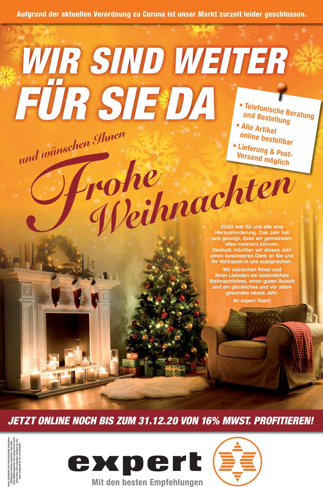 expert Schlagenhauf Weihnachtsprospekt 2020 Prospekt - Aktuell vom 25.12-31.12.2020