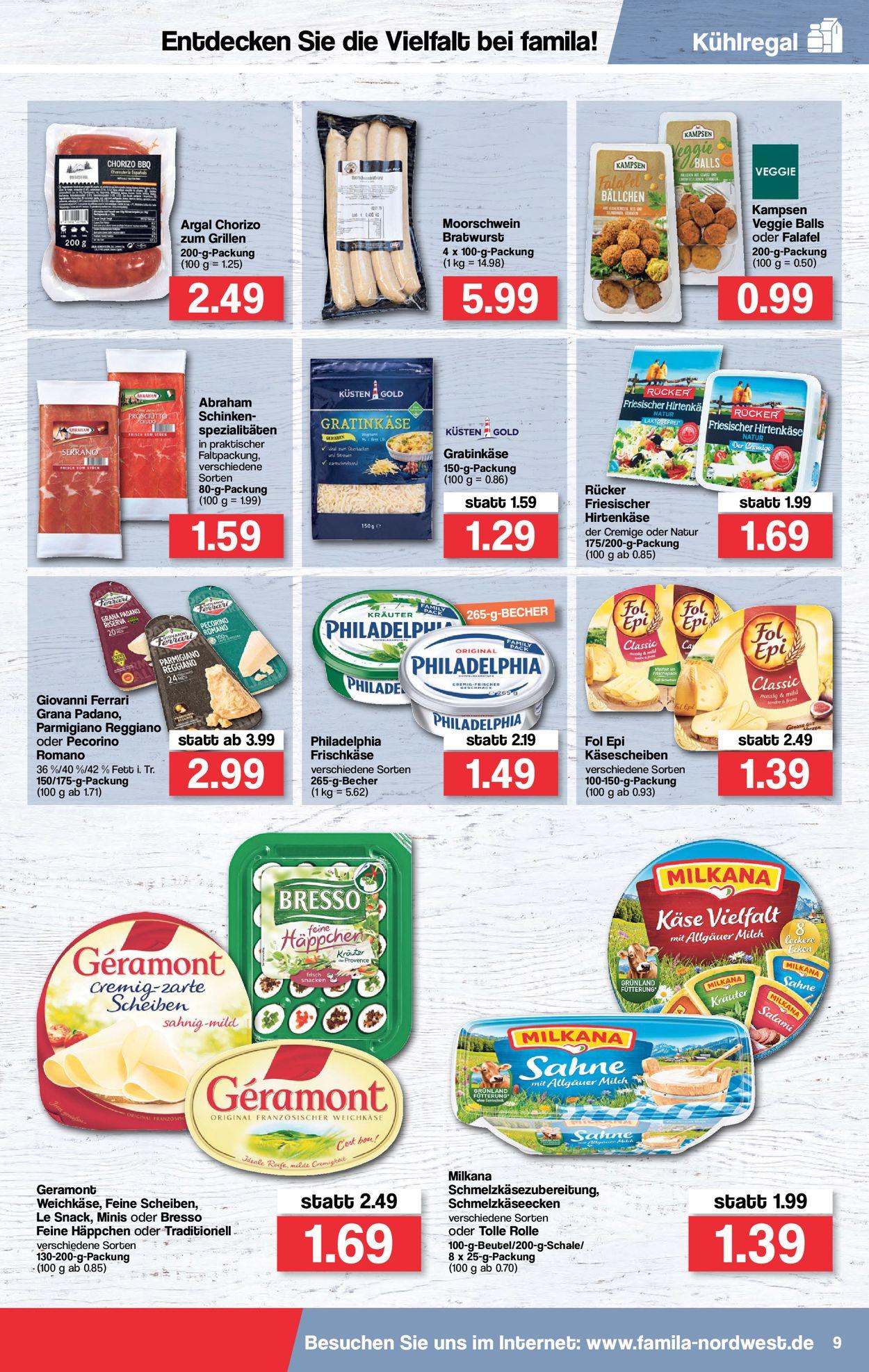 Famila Prospekt - Aktuell vom 02.08-07.08.2021 (Seite 9)