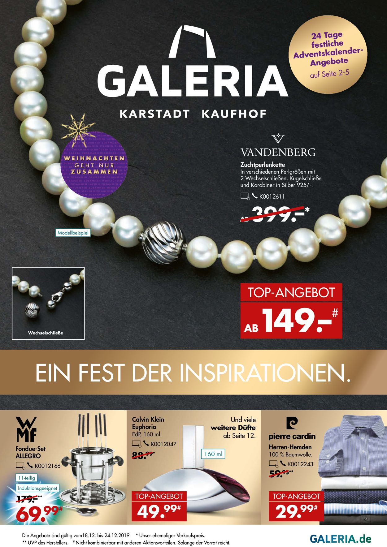 GALERIA Kaufhof - Weihnachtsprospekt 2019 Prospekt - Aktuell vom 18.12-24.12.2019