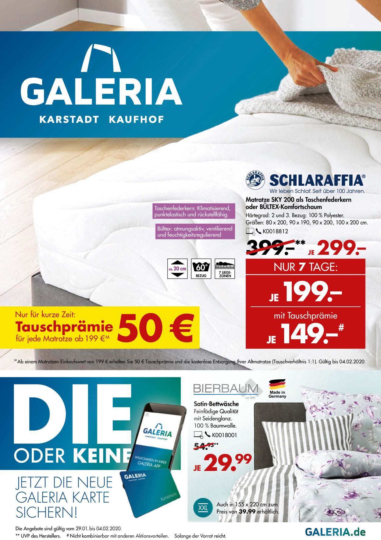 GALERIA Kaufhof Prospekt - Aktuell vom 29.01-04.02.2020