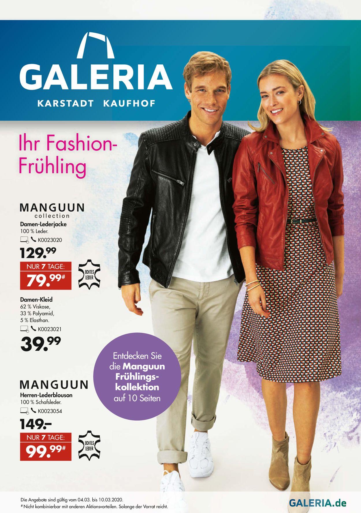 GALERIA Kaufhof Prospekt - Aktuell vom 04.03-10.03.2020