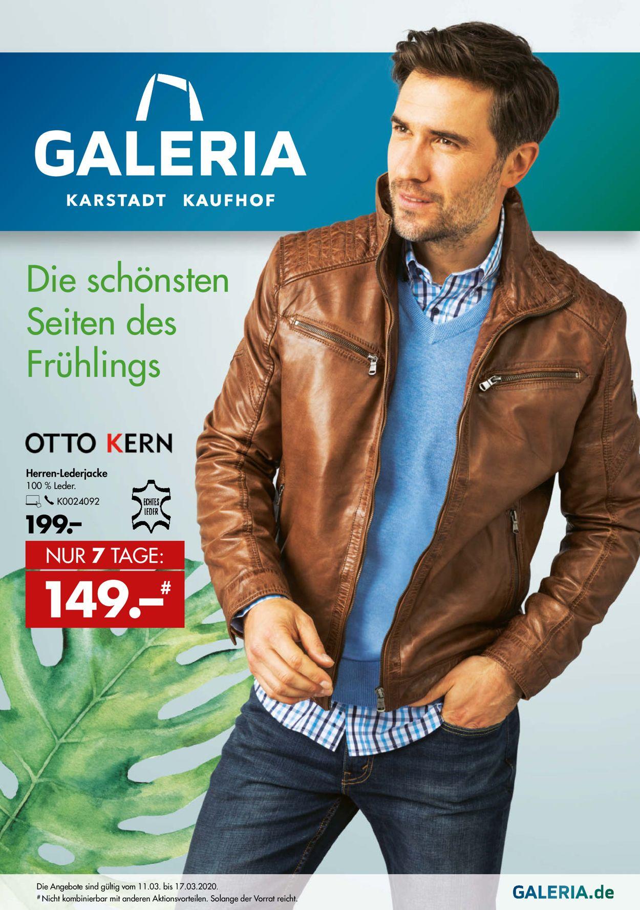 GALERIA Kaufhof Prospekt - Aktuell vom 11.03-17.03.2020