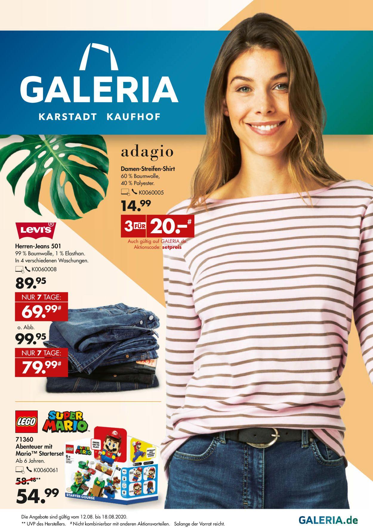 GALERIA Kaufhof Prospekt - Aktuell vom 12.08-18.08.2020
