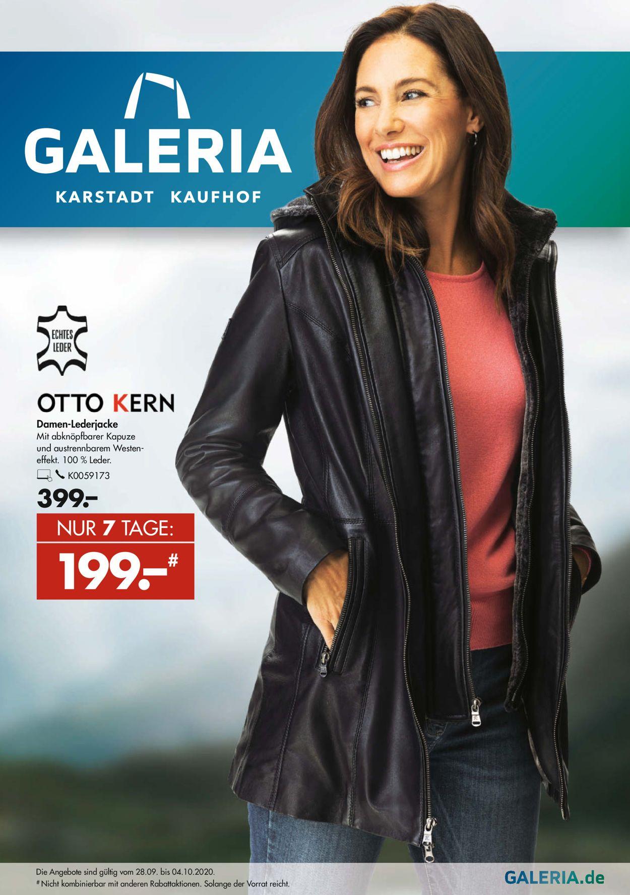 GALERIA Kaufhof Prospekt - Aktuell vom 28.09-04.10.2020