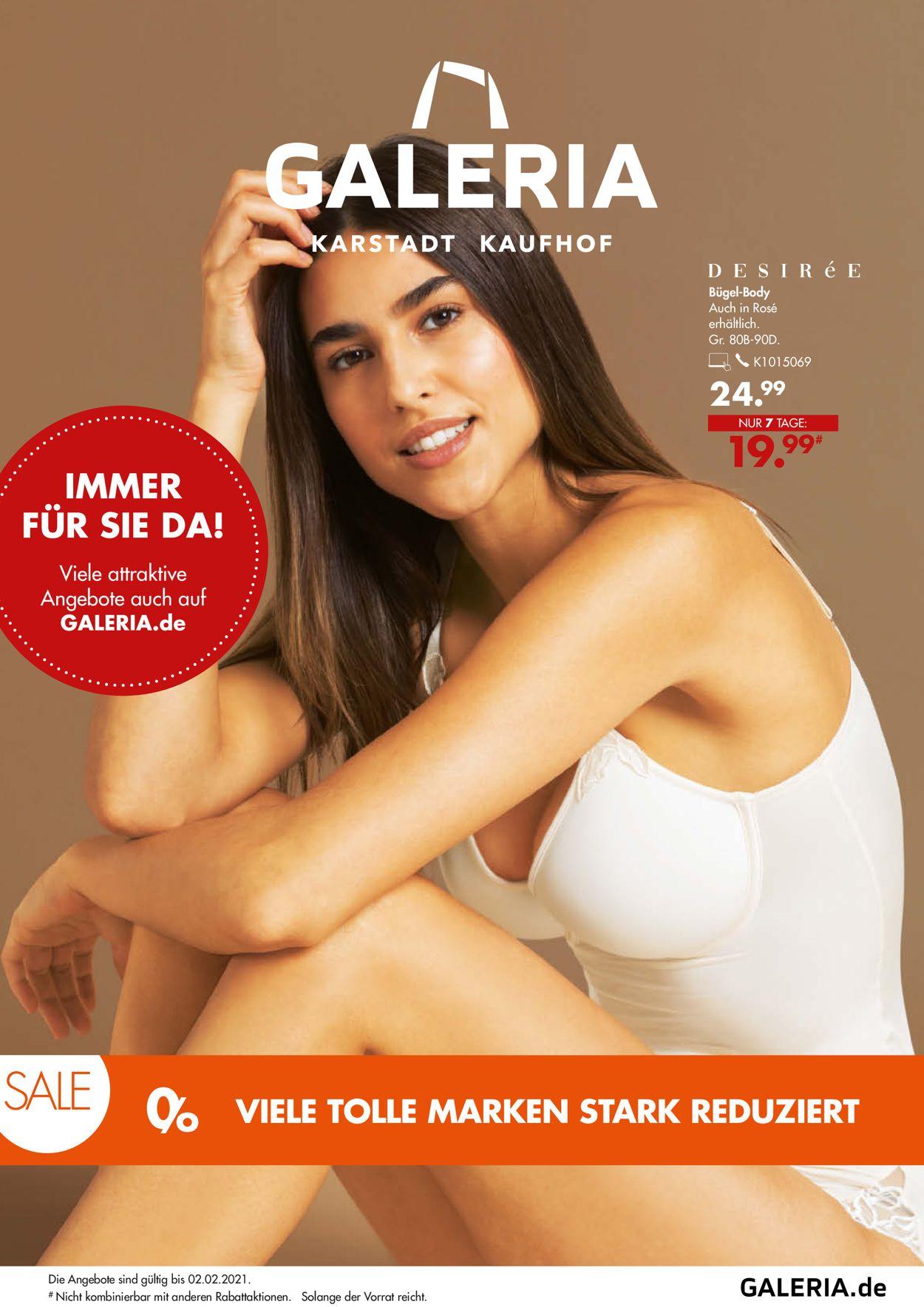 GALERIA Kaufhof Prospekt - Aktuell vom 27.01-02.02.2021