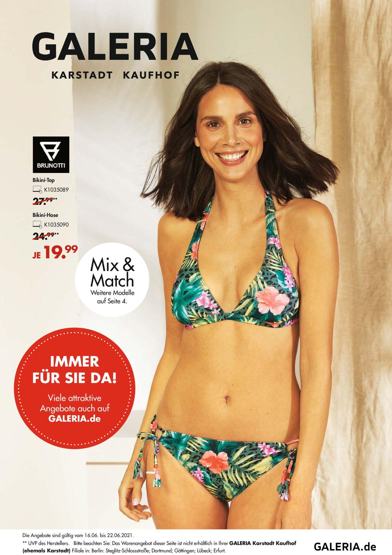 GALERIA Kaufhof Prospekt - Aktuell vom 16.06-22.06.2021