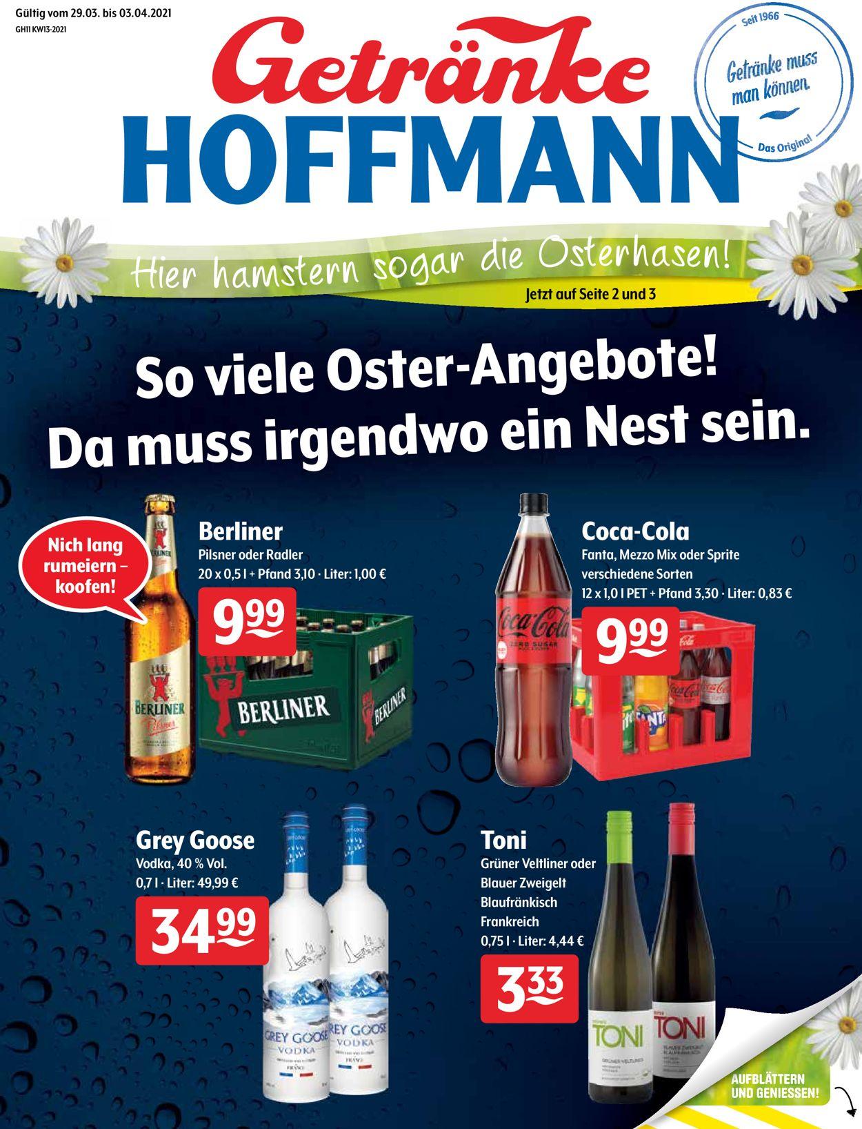 Getränke Hoffmann Ostern 2021 Prospekt - Aktuell vom 29.03-03.04.2021