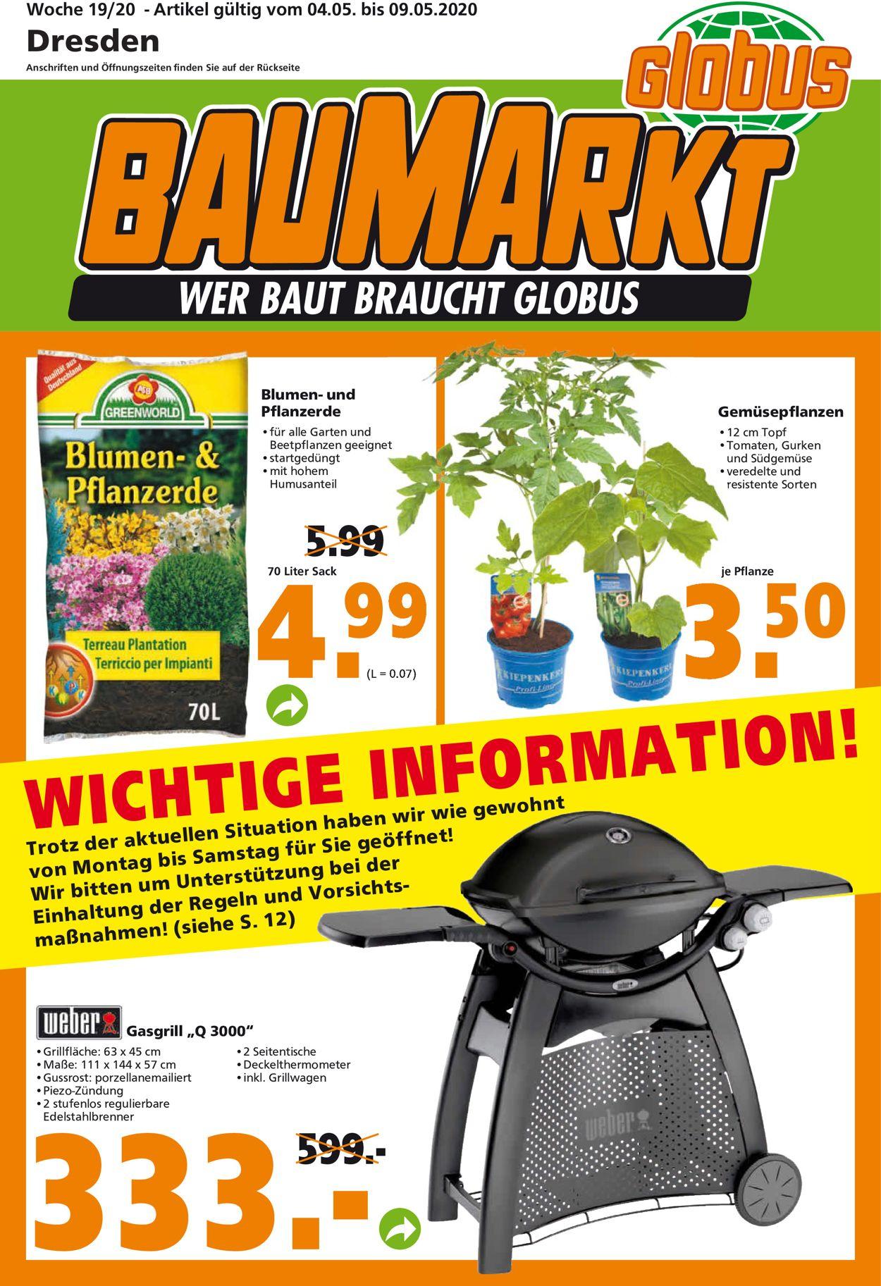 Globus Baumarkt Prospekt - Aktuell vom 04.05-09.05.2020