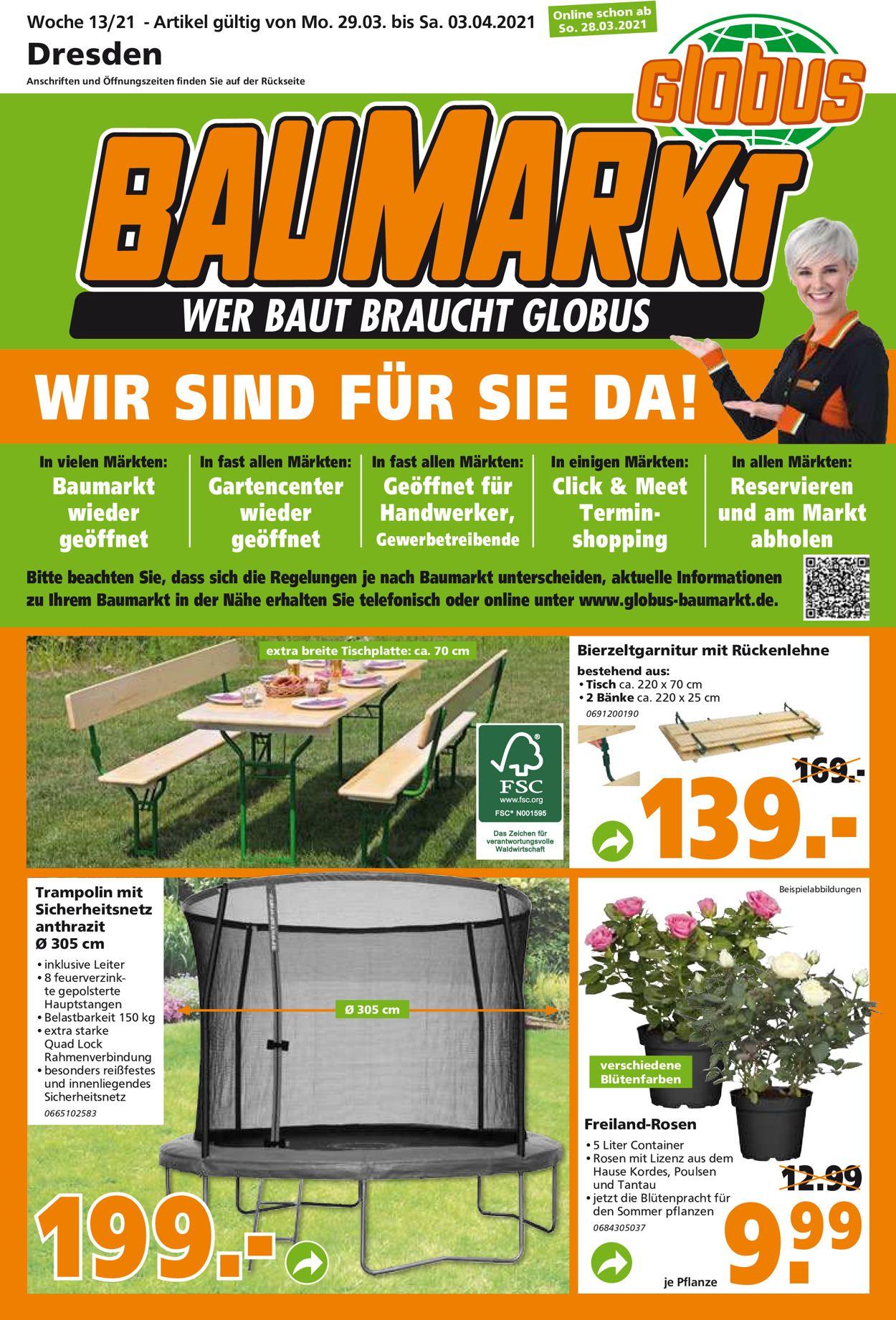 Globus Baumarkt Prospekt - Aktuell vom 29.03-03.04.2021