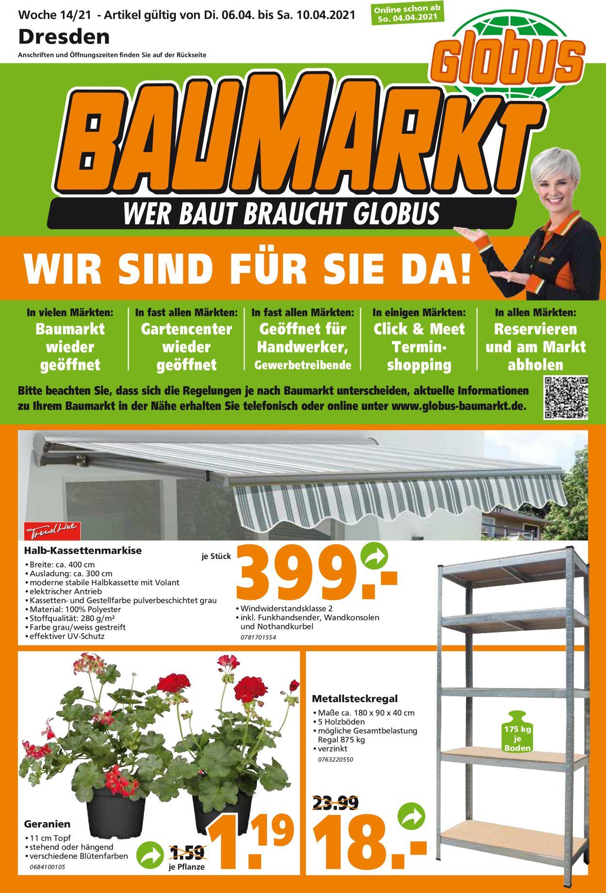 Globus Baumarkt Prospekt - Aktuell vom 06.04-10.04.2021