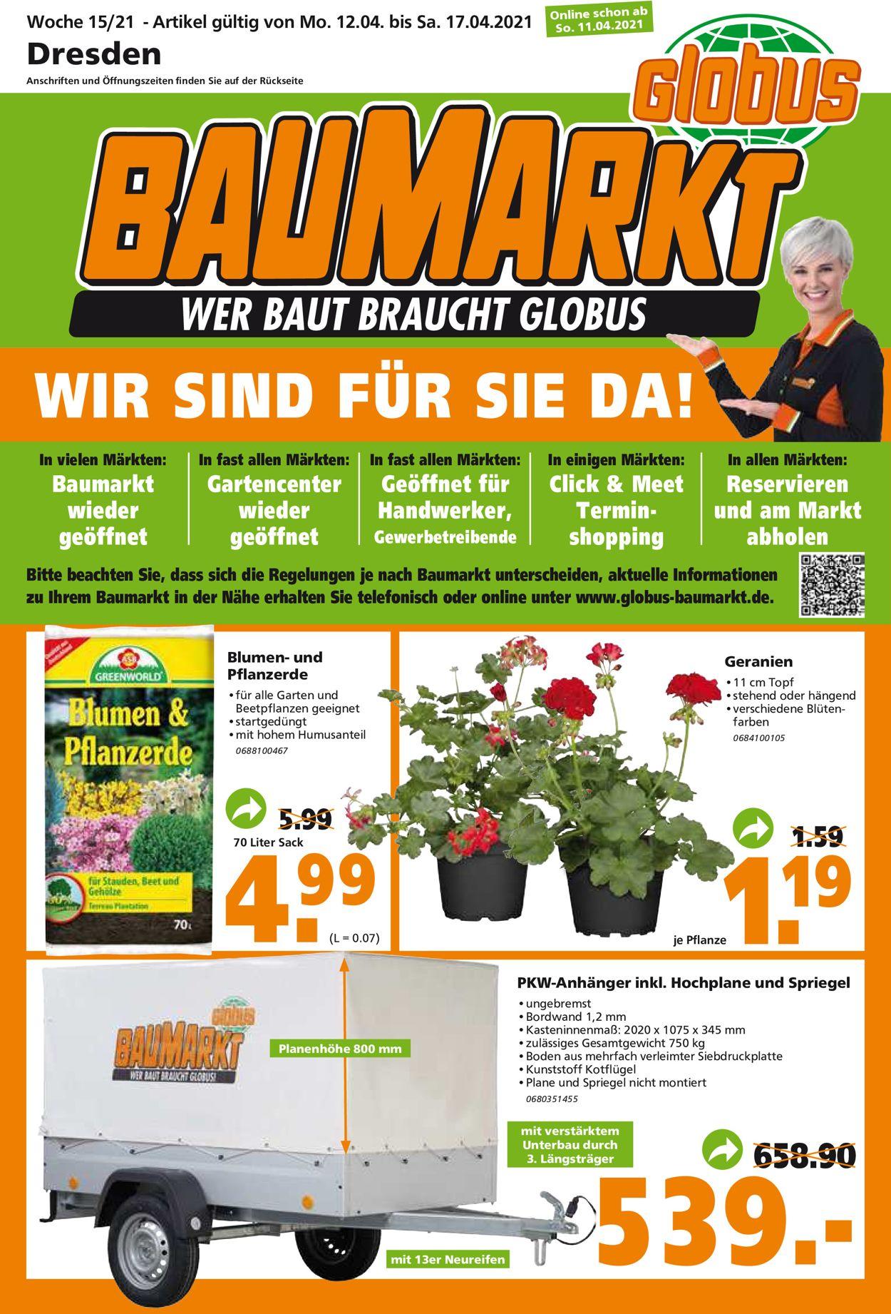 Globus Baumarkt Prospekt - Aktuell vom 12.04-17.04.2021