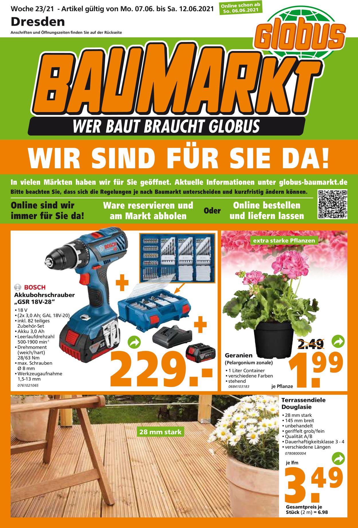 Globus Baumarkt Prospekt - Aktuell vom 07.06-12.06.2021