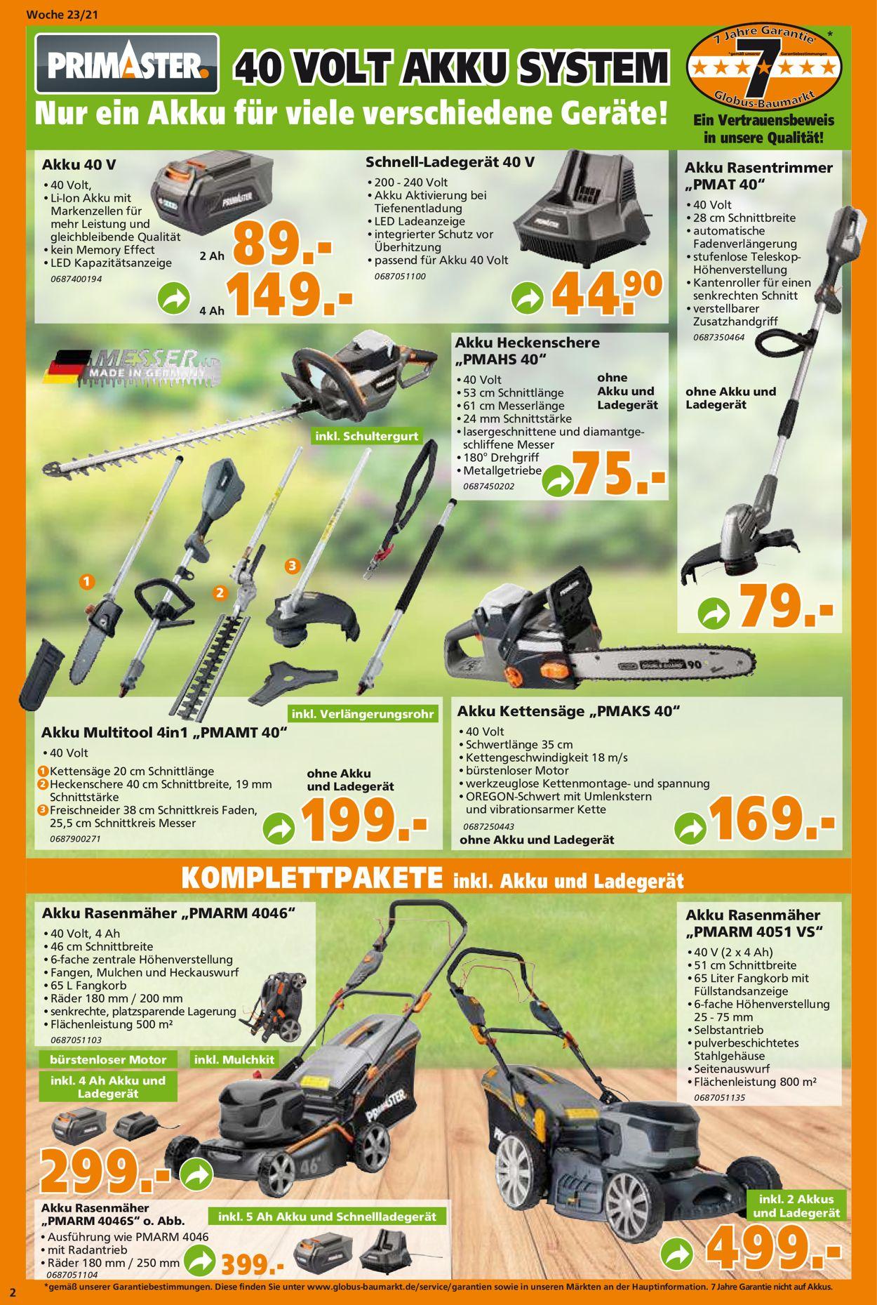 Globus Baumarkt Prospekt - Aktuell vom 07.06-12.06.2021 (Seite 2)