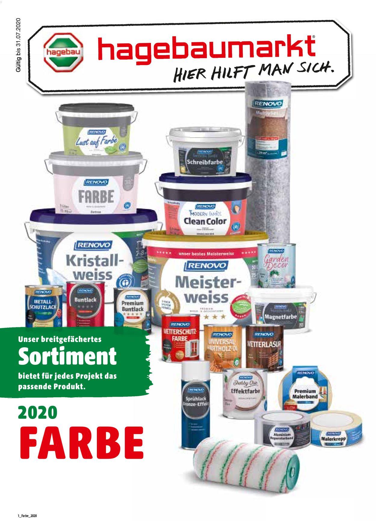 hagebaumarkt Prospekt - Aktuell vom 01.06-31.08.2020