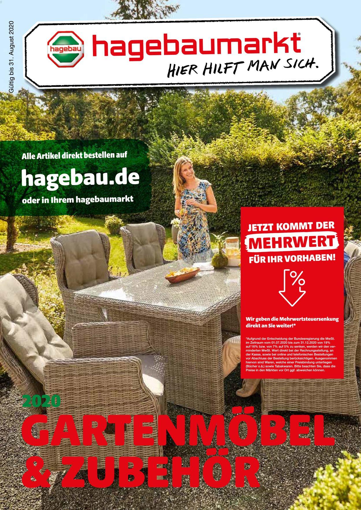 hagebaumarkt Prospekt - Aktuell vom 01.07-31.12.2020
