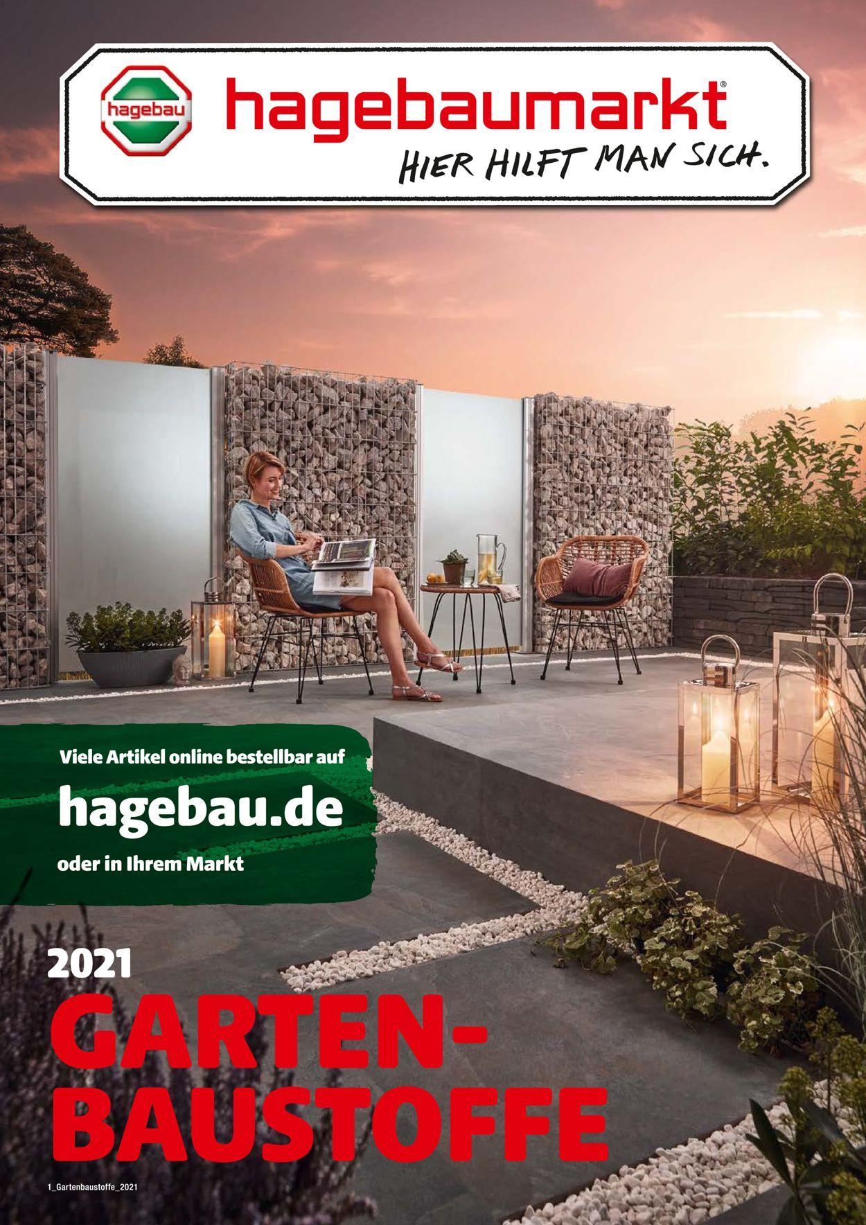 hagebaumarkt Gartenbaustoffe Prospekt - Aktuell vom 01.03-30.06.2021