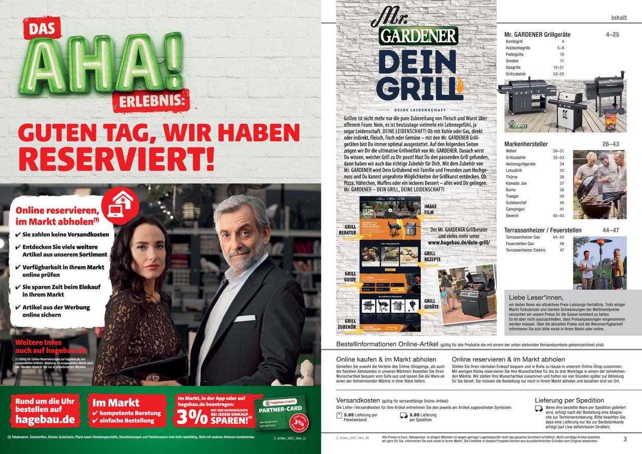 hagebaumarkt Grillen Prospekt - Aktuell vom 01.03-30.06.2021 (Seite 2)