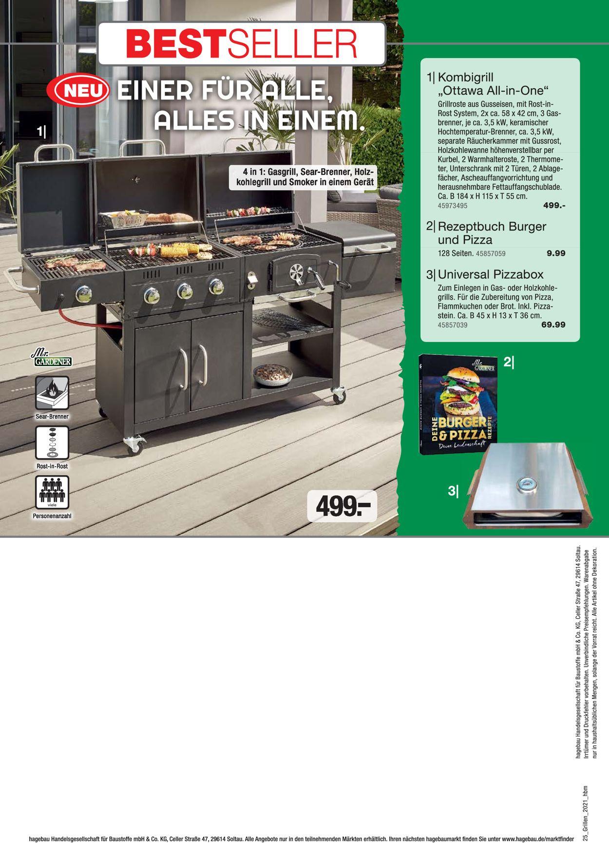 hagebaumarkt Grillen Prospekt - Aktuell vom 01.03-30.06.2021 (Seite 25)
