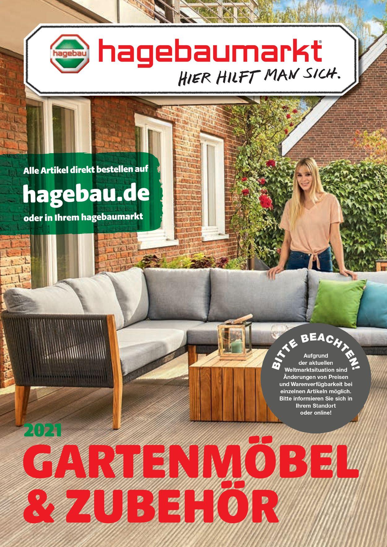 hagebaumarkt Gartenmöbel Prospekt - Aktuell vom 12.04-30.06.2021