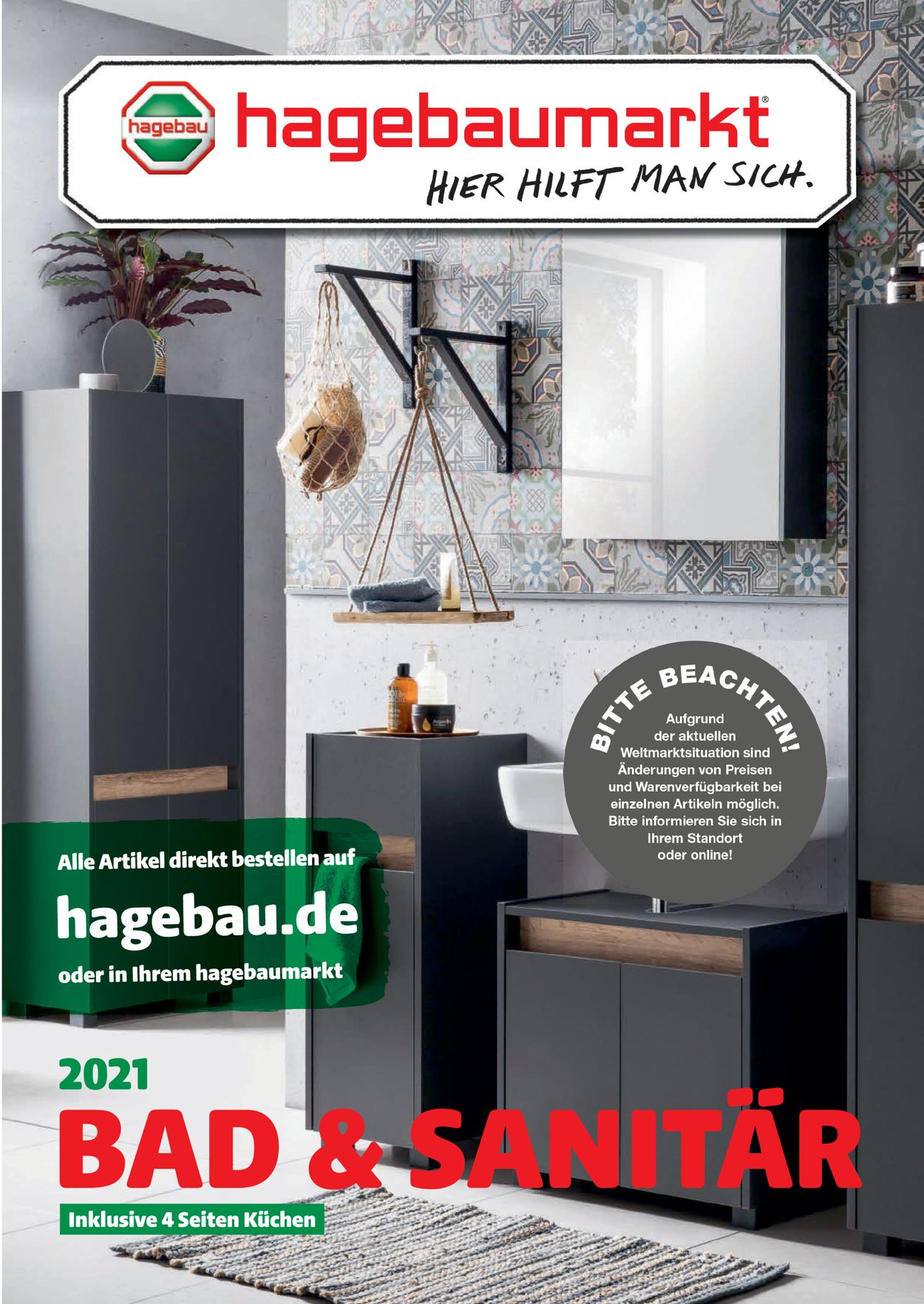 hagebaumarkt Bad & Sanitär Prospekt - Aktuell vom 12.04-30.06.2021