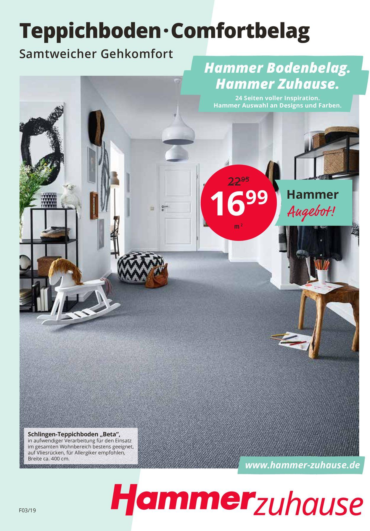 Hammer Prospekt - Aktuell vom 03.04-31.05.2019
