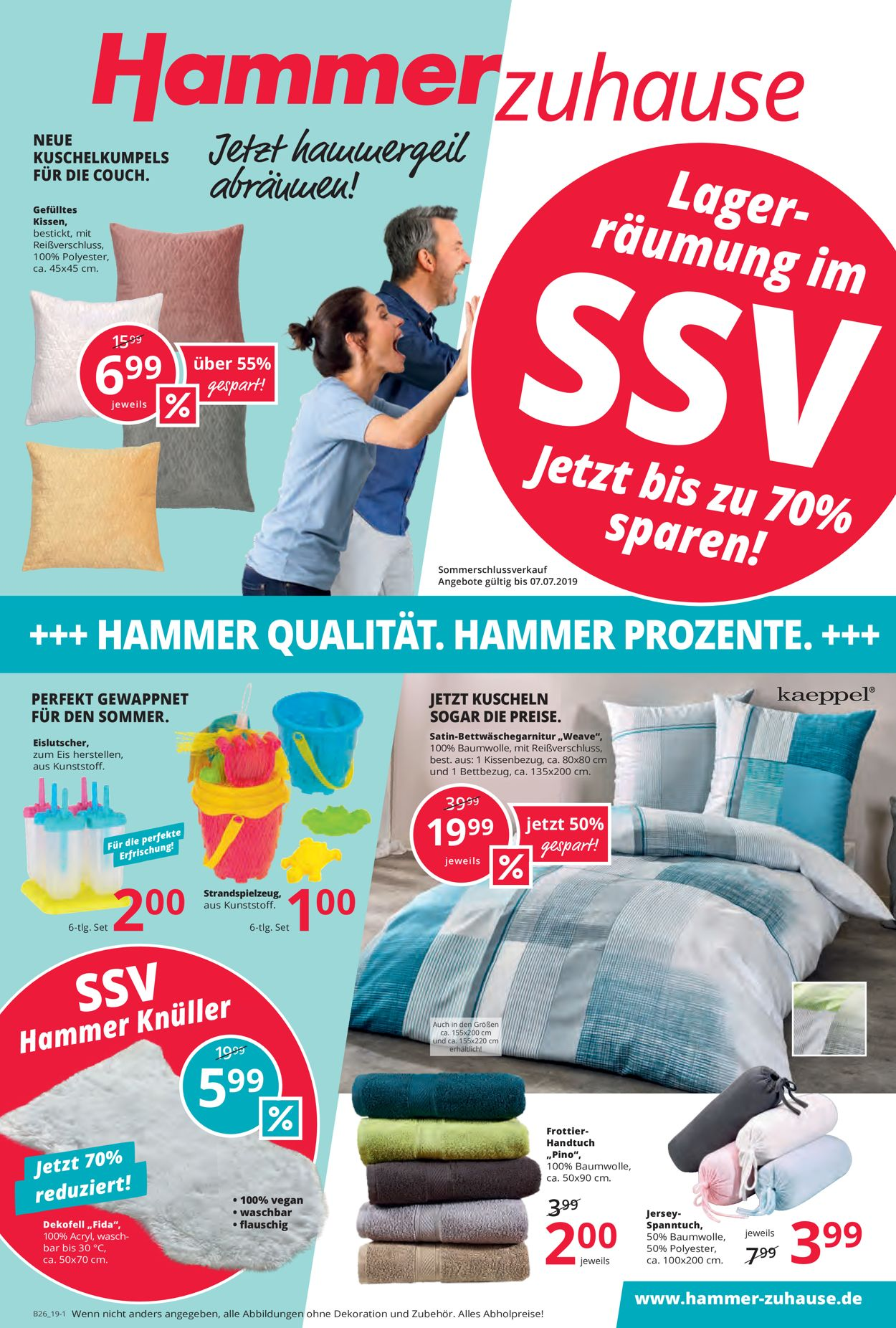 Hammer Prospekt - Aktuell vom 26.06-07.07.2019