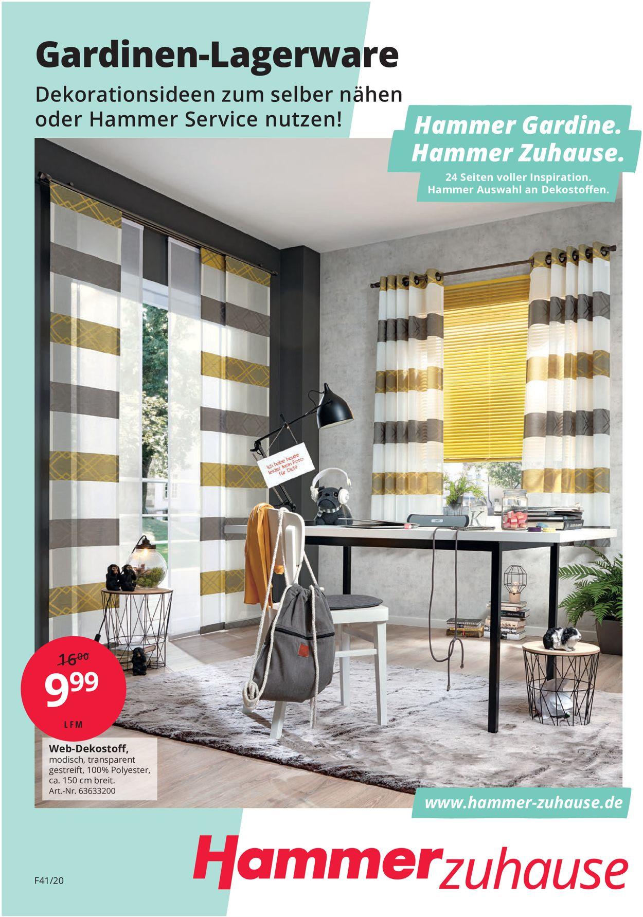 Hammer Prospekt - Aktuell vom 01.01-31.12.2020