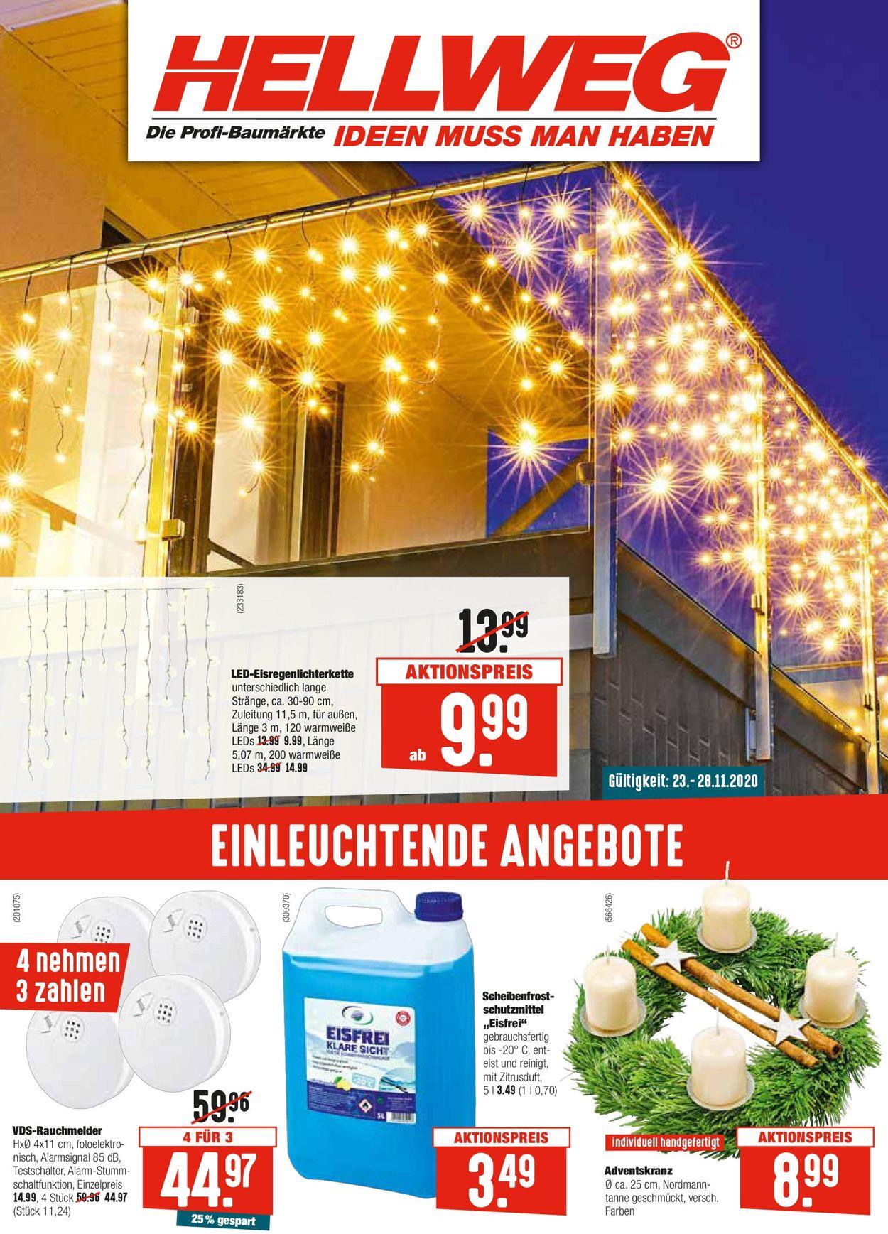 Hellweg Weihnachtsprospekt 2020 Prospekt - Aktuell vom 23.11-28.11.2020