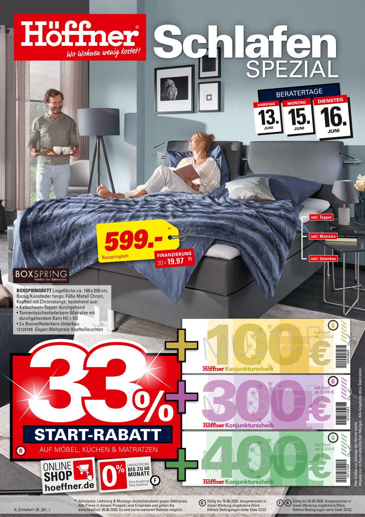 Höffner Prospekt - Aktuell vom 12.06-28.06.2020
