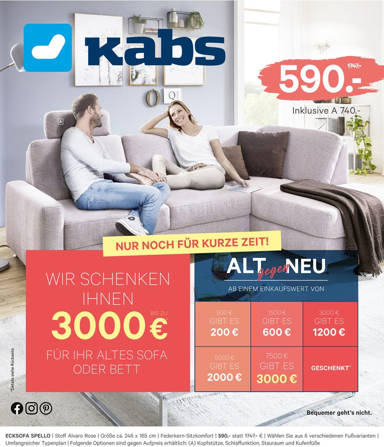 Kabs Prospekt - Aktuell vom 09.09-15.09.2020