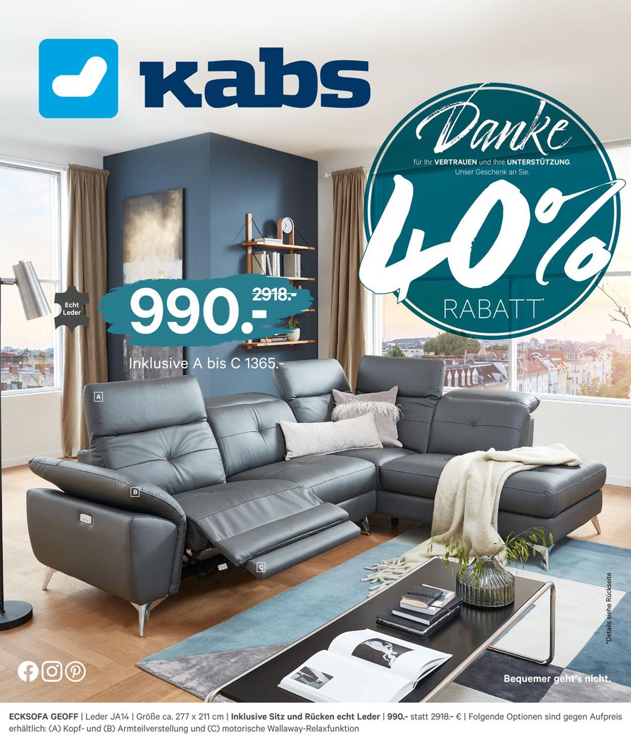 Kabs Prospekt - Aktuell vom 23.09-09.10.2020